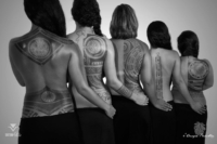 5 tatouages de demoiselles de dos - Tatoo by Patu