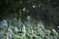 Dancers in Rurutu caves