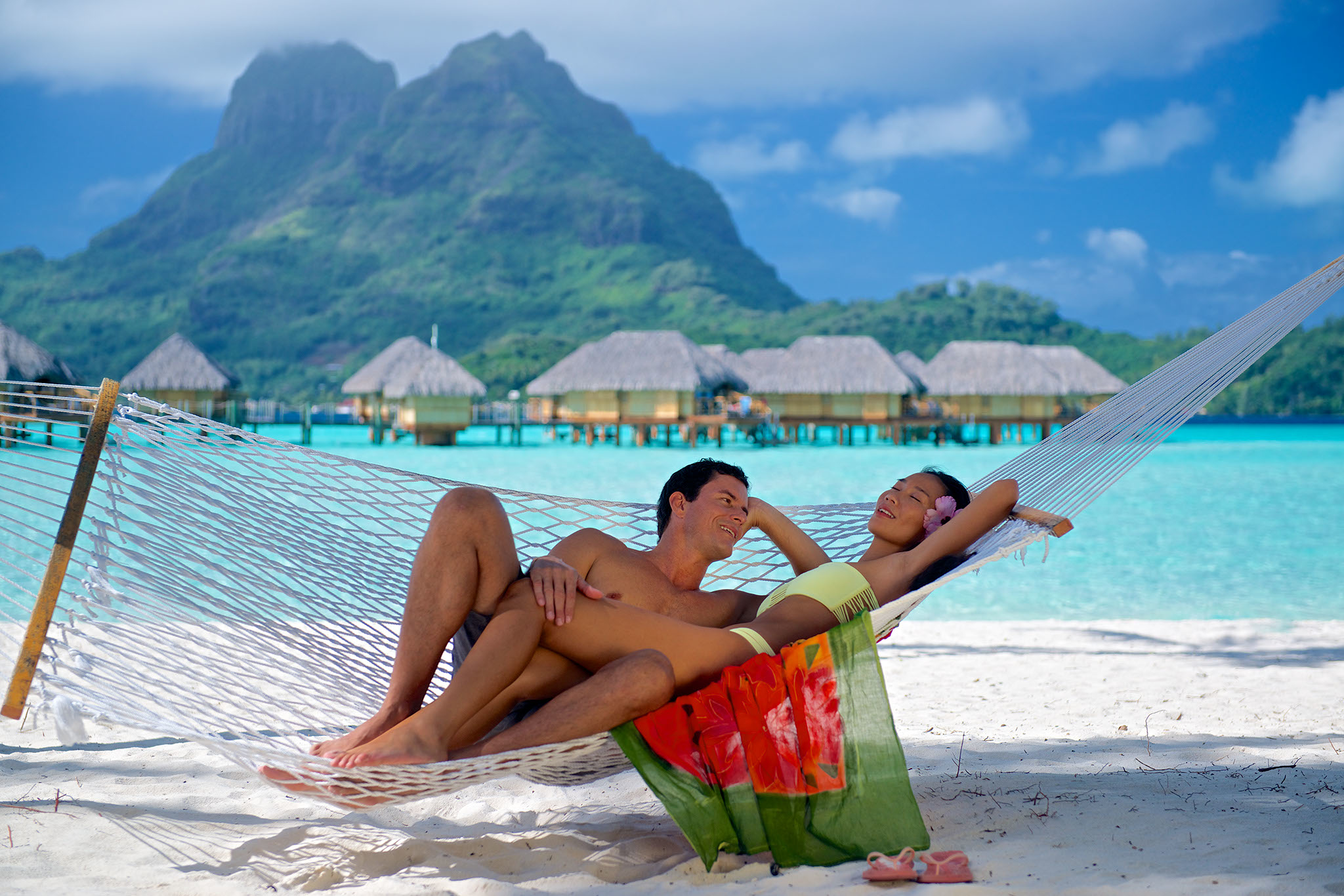 Relaxing time in a hammock at the Bora Bora Pearl Beach Resort