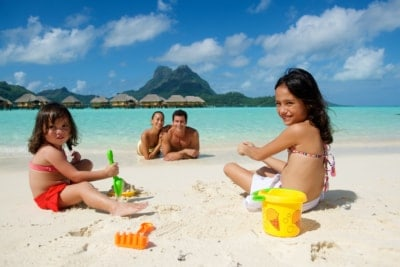 Family at the Bora Bora Pearl Beach Resort