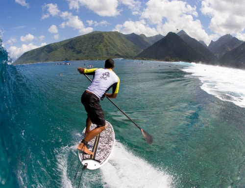 Surfing in Polynesia