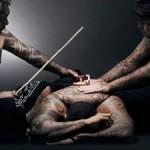 Tatoo on the leg - Polynesia TTAU Tattoo convention