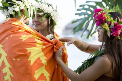 Traditional Wedding Ceremony in Moorea