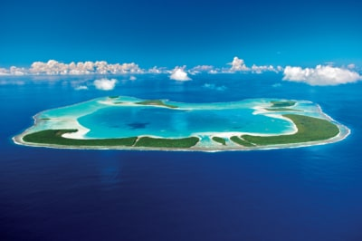 Aerial view of Tetiaroa