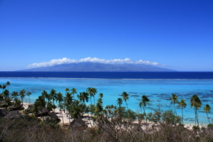 Temae Beach - view on Tahiti