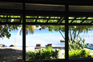 Coconut Lodge of Rangiroa - Lagoon view from the Bungalow
