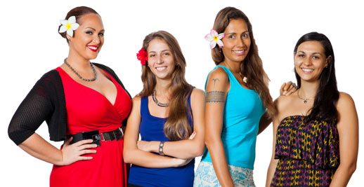 Photo the ladies from the FIT team at Tahiti Nui Travel