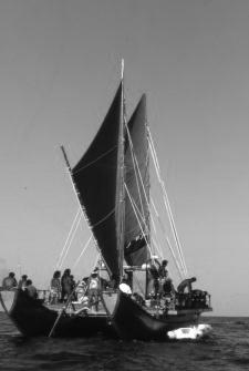 Faafaite - a typical Polynesian canoe