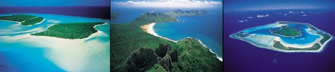 Various islands