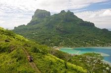 En explorant Bora Bora