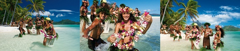 The Polynesian flowered welcome