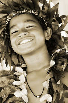 The natural Polynesian smile