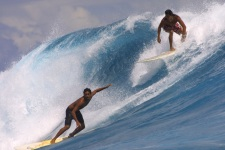 Surfing in Polynesia - a pleasure shared