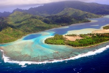 Aerial view of Huahine