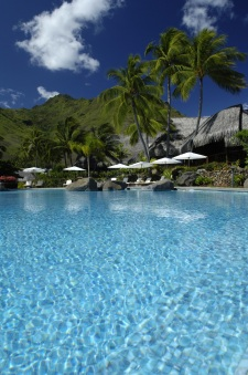 The Hilton Moorea Lagoon Resort swimming pool