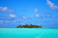 Hundreds of Motu (white sand islets)