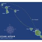 Map 10 night cruise - Papeete, Moorea, Huahine, Tahaa, Raiatea, Bora Bora