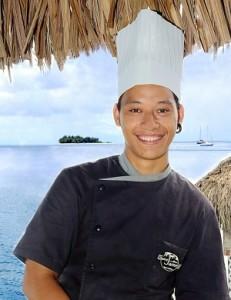 Photo of the New Chef at the Saint James Bora Bora