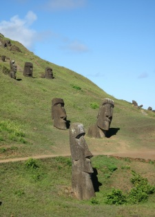 The Moai in Rapa Nui
