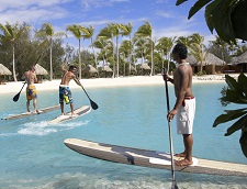 Several activities at the Four Seasons Resort Bora Bora