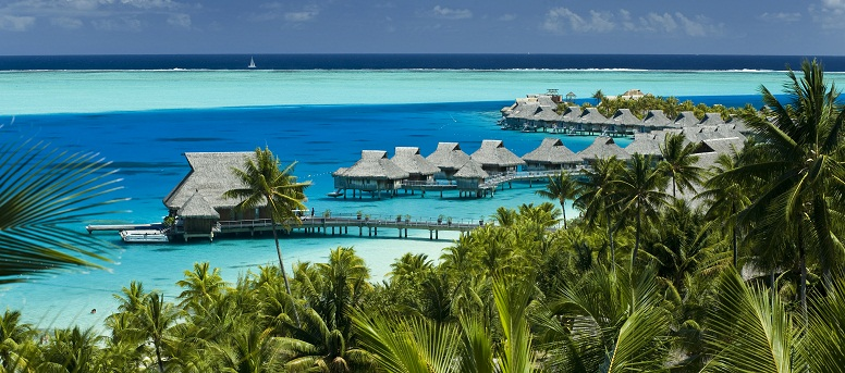 Aerial view of the Hilton Bora Bora Nui Resort & Spa
