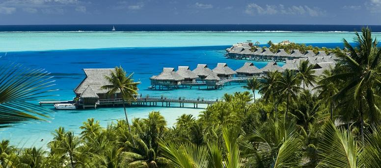 Vue aérienne du Hilton Bora Bora Nui Resort & Spa
