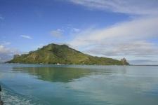 Vue sur Maupiti du lagon