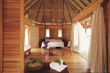 Des bungalows polynésiens