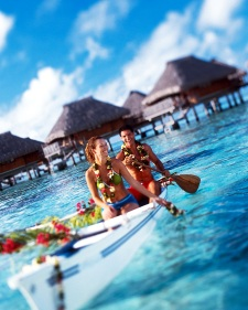 Romantic moments at the Hilton Moorea Lagoon Resort & Spa
