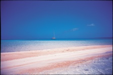 A pink sand beach of Tikehau