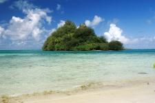 Beach and Motu (white sand islet) of Raivavae