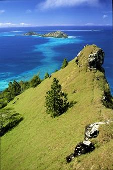 Le mont Duff sur l'île de Mangareva