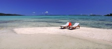 One of the beaches of the Vahine Island Private Resort