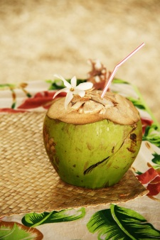 Some refreshing coconut water
