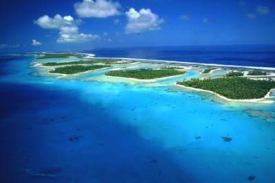 Aerial view of Rangiroa - Tuamotu Archipelago