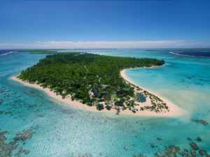 Aerial view of The Brando Resort