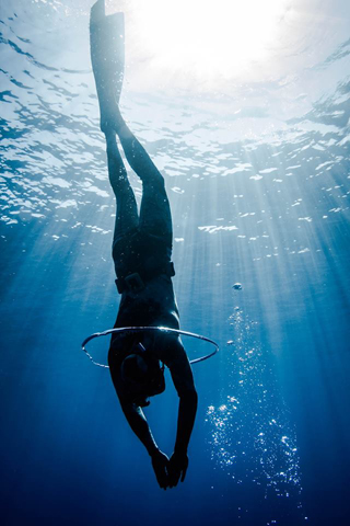 Free diving in Moorea