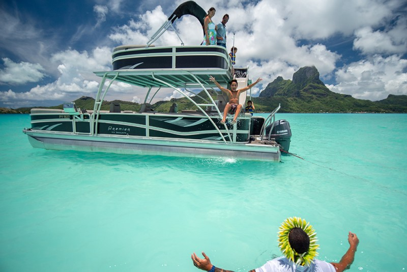 Waterslide Boat on Bora Bora